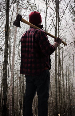 Robin Macmillan MAN WITH AXE STANDING IN FOREST Men