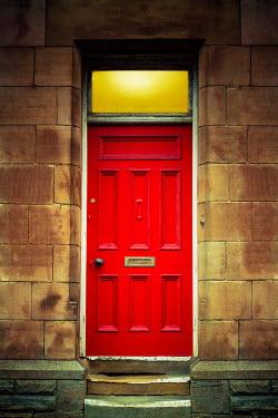Richard Nixon LIGHT IN RED DOOR OF SANDSTONE HOUSE Building Detail