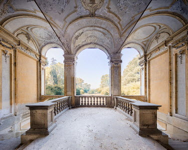 James Kerwin DESERTED PALACE WITH ORNATE CEILING Interiors/Rooms