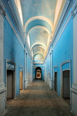 James Kerwin CORRIDOR IN LARGE ABANDONED BUILDING Interiors/Rooms