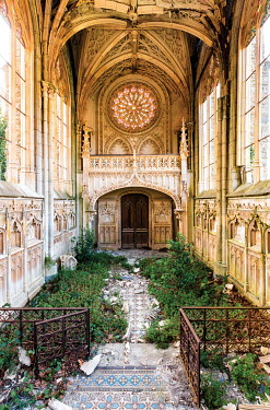 James Kerwin INTERIOR OF OVERGROWN DERELICT CHURCH Religious Buildings