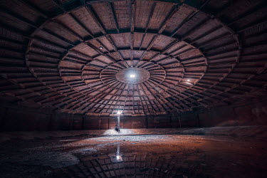 James Kerwin INTERIOR OF HUGE DESERTED CIRCULAR BUILDING Interiors/Rooms