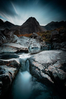 David Keochkerian MOUNTAIN STREAM WITH ROCKS AT DUSK Miscellaneous Water