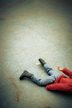 Paolo Martinez Action figure lying on concrete