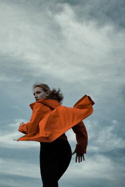 Magdalena Russocka close up of modern woman running outside