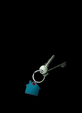 Magdalena Russocka house key ring with keys
