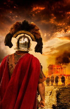 Stephen Mulcahey Roman centurion from behind