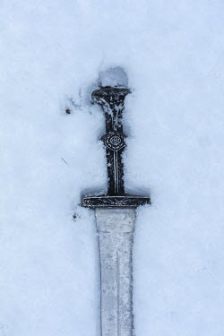 Stephen Mulcahey Sword in snow