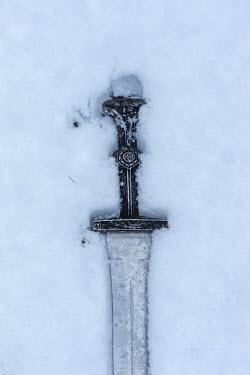 Stephen Mulcahey Sword in snow