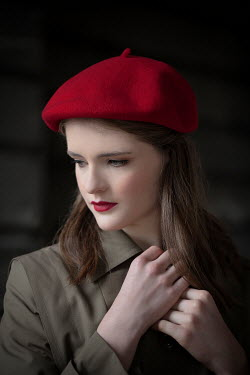 Nikaa Young woman with red beret