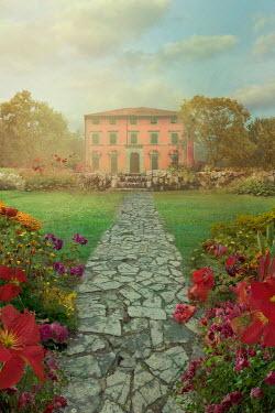Drunaa Villa and garden in summer