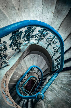 Jaroslaw Blaminsky SHABBY WROUGHT IRON CIRCULAR STAIRCASE Stairs/Steps