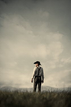 Magdalena Russocka cowboy standing in field