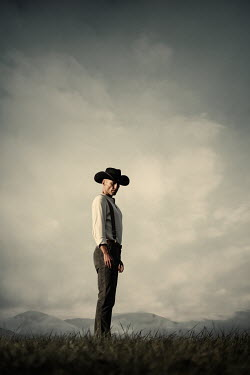 Magdalena Russocka cowboy standing in field