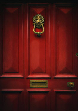 Lyn Randle Red door with knocker