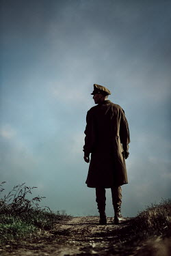 Magdalena Russocka wartime soldier standing in field
