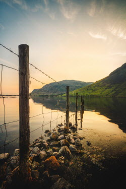 Evelina Kremsdorf Fence in Wast Water in the Lake District, Cumbria, England