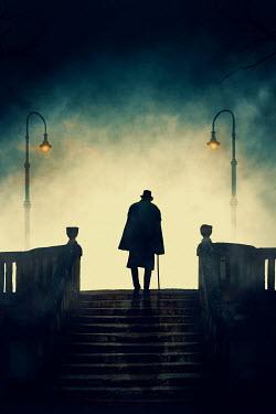 Ildiko Neer Victorian man walking on staircase