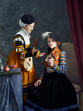 Alexey Kazantsev TUDOR WOMAN AND SERVANT WITH LUTE Women