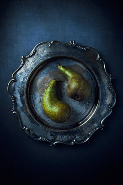 Magdalena Wasiczek TWO PEARS ON PEWTER PLATE Miscellaneous Objects