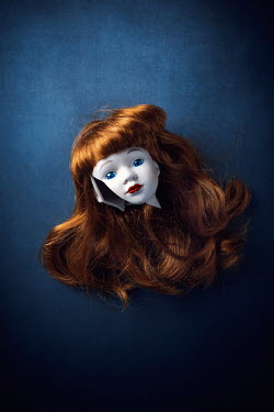 Magdalena Wasiczek BROKEN DOLL'S HEAD WITH RED HAIR Miscellaneous Objects