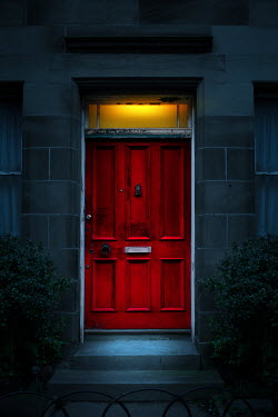 Magdalena Russocka red door of historical house at night