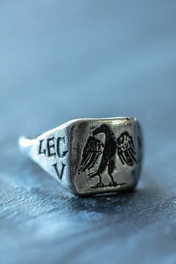 Stephen Mulcahey SILVER ROMAN RING WITH EAGLE Miscellaneous Objects