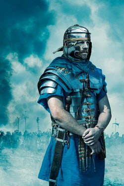Stephen Mulcahey ROMAN SOLDIER IN ARMOUR WITH ARMY OUTDOORS Men