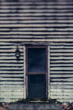Lisa Bonowicz DOORWAY OF OLD WOODEN HOUSE FROM OUTSIDE Building Detail