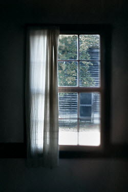 Lisa Bonowicz INSIDE WINDOW WITH VIEW OF WOODEN BUILDING Building Detail