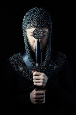Magdalena Russocka medieval woman in chainmail with sword