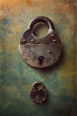 Magdalena Wasiczek LARGE AND SMALL RUSTY PADLOCKS Miscellaneous Objects