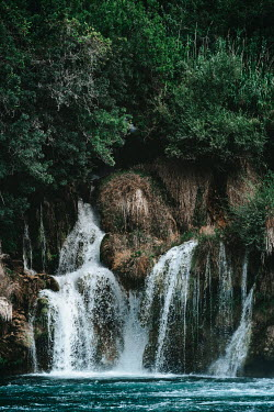 Magdalena Wasiczek RIVER WITH WATERFALLS AND BUSHES Miscellaneous Water