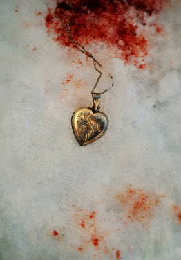 Lyn Randle GOLD LOCKET LYING IN BLOODY SNOW Miscellaneous Objects