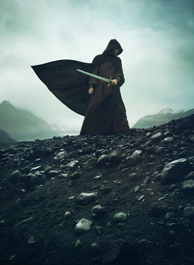 Mark Owen MAN WITH CAPE AND SWORD ON WINDY HILL Men