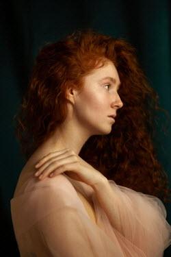 Elena Alferova SERIOUS WOMAN WITH RED HAIR IN CHIFFON Women
