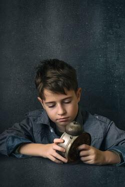 Galya Ivanova LITTLE BOY WITH RETRO ALARM CLOCK Children