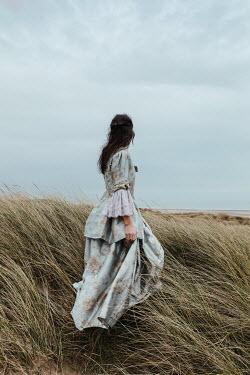 Matilda Delves HISTORICAL WOMAN IN SAND DUNES WATCHING SEA Women