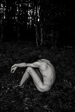 Esme Mai NAKED MAN SITTING IN FOREST Men