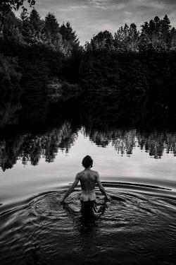 Esme Mai NAKED MAN STANDING IN LAKE Men