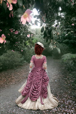 ILINA SIMEONOVA HISTORICAL WOMAN WITH RED HAIR ON SUMMERY PATHWAY Women