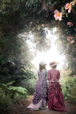 ILINA SIMEONOVA TWO HISTORICAL WOMEN IN SUMMERY GARDEN Women