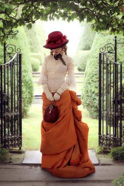 ILINA SIMEONOVA HISTORICAL WOMAN  WITH HAT BY GARDEN GATES Women