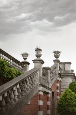 ILINA SIMEONOVA GRAND GARDEN STEPS WITH BALUSTRADES AND URNS Stairs/Steps