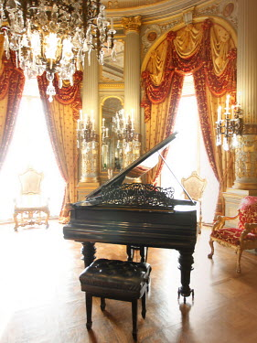 ILINA SIMEONOVA GRAND PIANO IN PALACE INTERIOR Interiors/Rooms