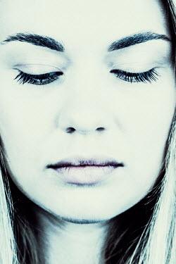 Magdalena Russocka close up of serious woman looking down