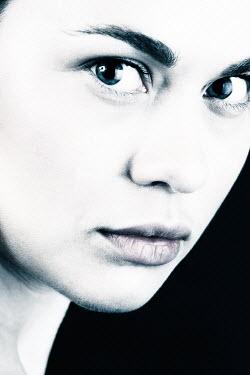 Magdalena Russocka close up of serious woman staring