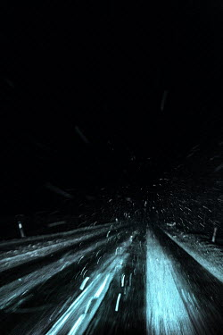 Magdalena Russocka country road in blizzard at night