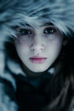 Nic Skerten SERIOUS TEENAGE GIRL IN FUR HOOD Children