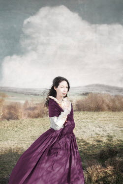 Anna Buczek HISTORICAL WOMAN WITH DARK HAIR IN COUNTRYSIDE Women